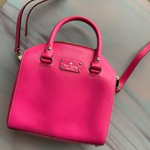 Kate spade pink bag with strap .